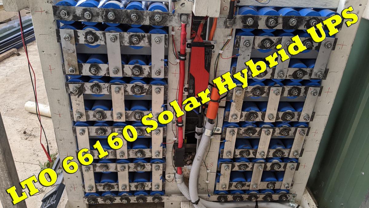 GoodWe 5048D ES With 66160 LTO UPS Batteries