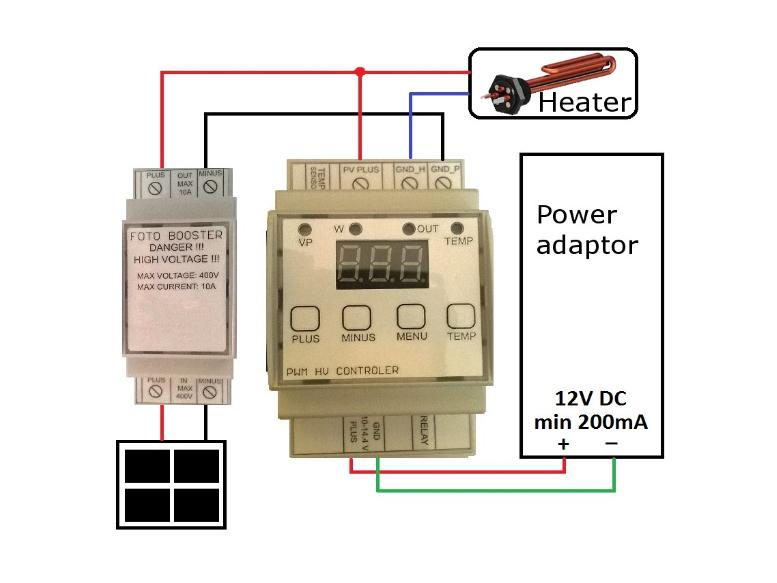 mppt water heater configuration